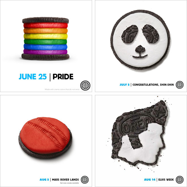 Content Marketing is not just blogging - Oreo Daily Twist Ad Campaign