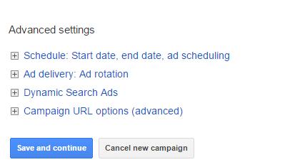 Google Adwords campaign Tutorial - advanced settings
