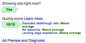 Google Adwords Campaign Tutorial - Google adwords quality score