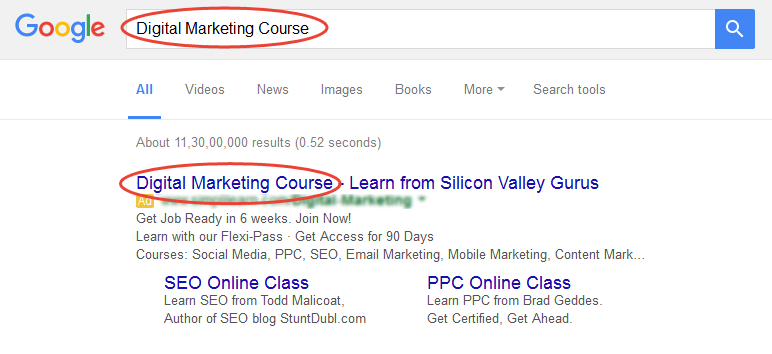 PPC Ad Copy best practices for writing ad copy - Keywords in Ads