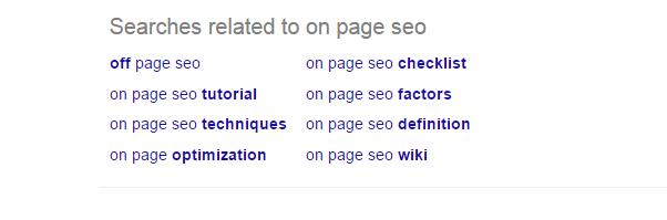 on page seo checklist 2016 - on page seo semantic keywords