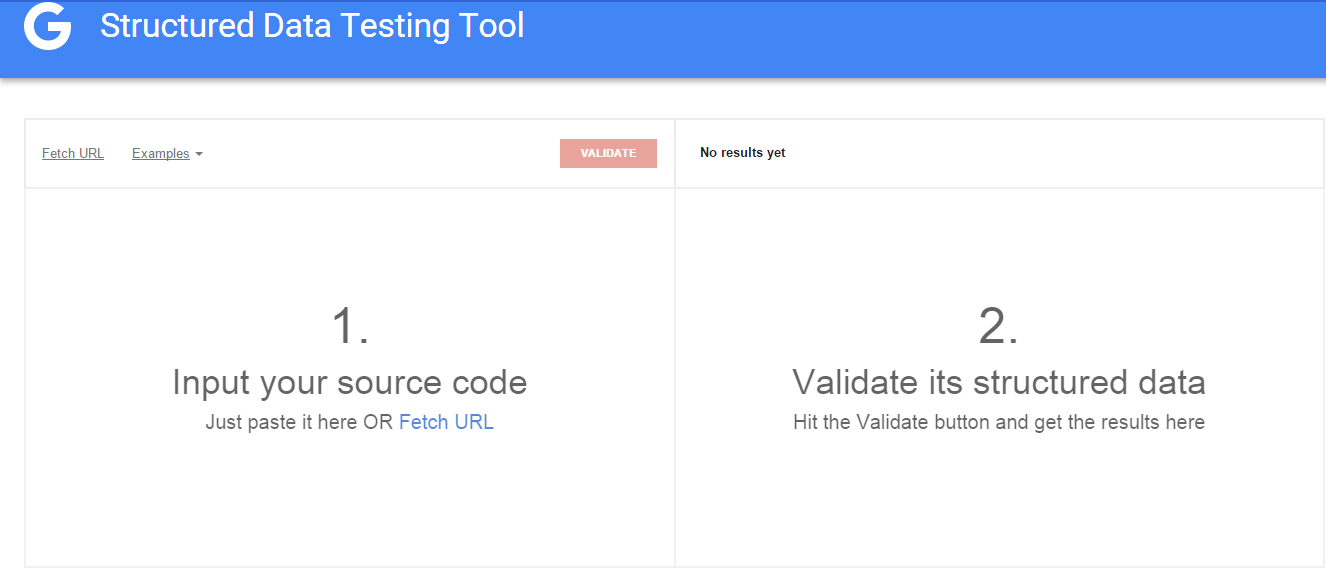 google's structured data testing tool - implementing structured Data