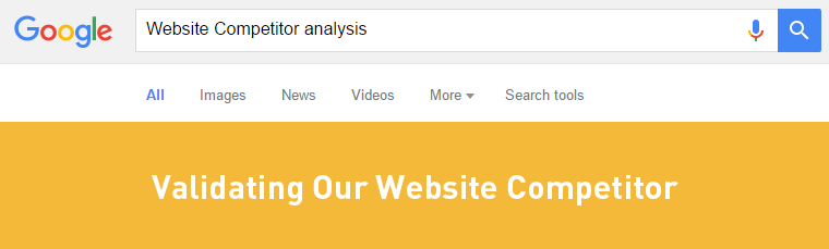 website competitor analysis - validate our website competitor
